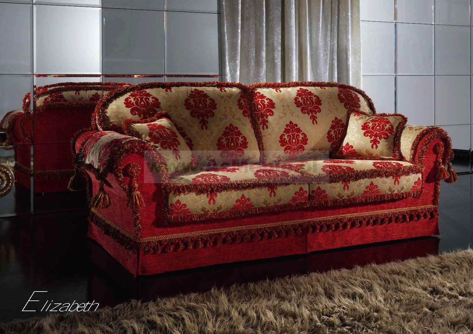 Elizabeth Luksusowa Sofa 3 Os Włoskie Meble Stylowe Meble Włoskie