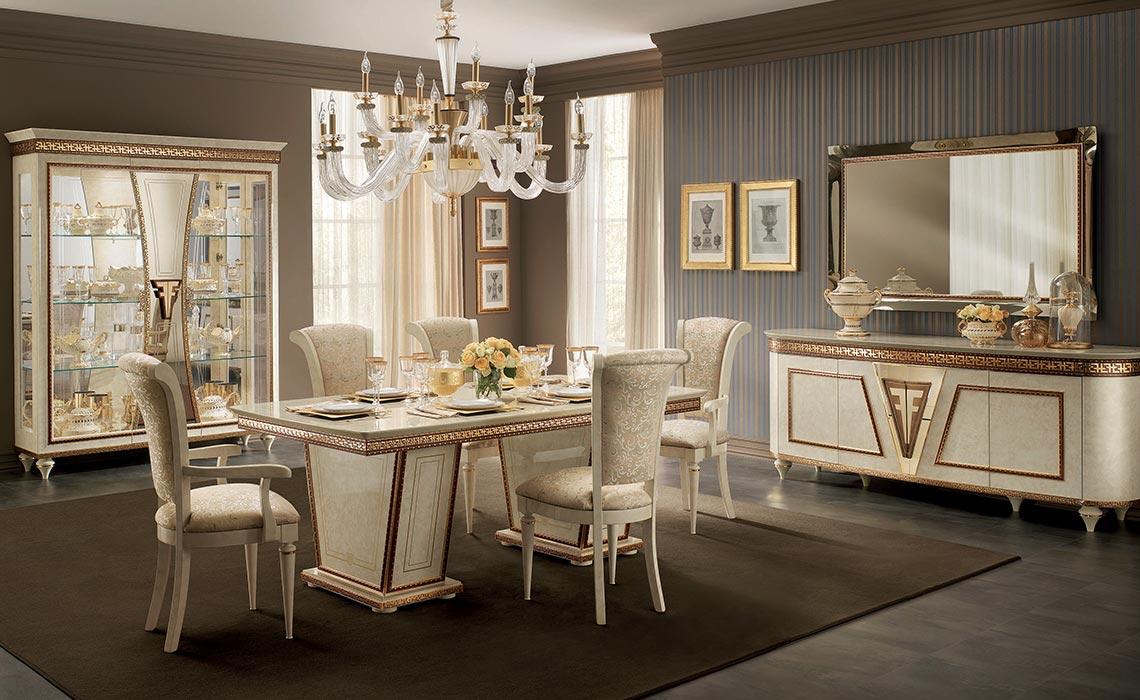 54b5d47d38f14e FANTASIA - luksusowa kolekcja mebli do jadalni w kolorze beżowym Meble  włoskie sypialnie, meble pokojowe |ASmeble.pl