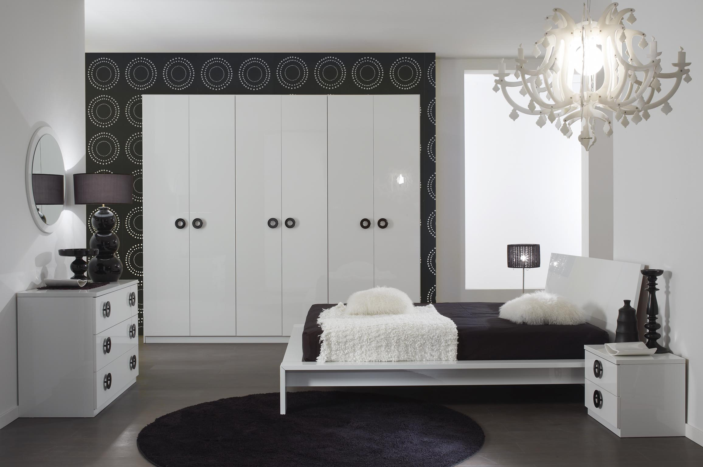 Grease łożko Włoskie W Kolorze Białym Na Wysoki Połysk