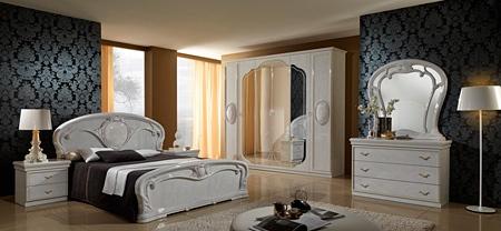 Elvire Bianco Sypialnia Stylowa Włoska W Kolorze Marmuru