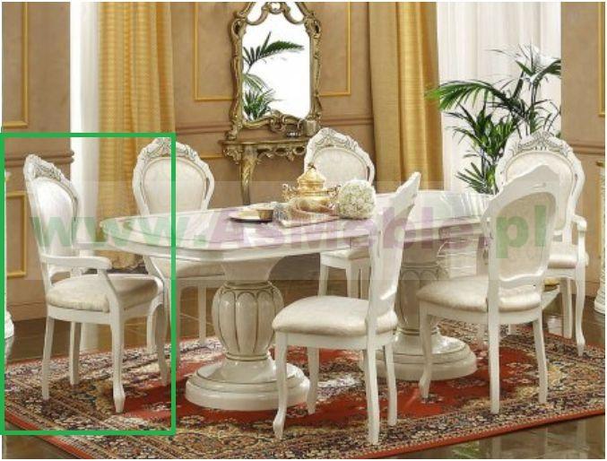 Krzesło Z Podłokietnikiem Mod Leonardo Włoskie Stylowe