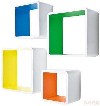 lounge cube mdf square colore 4 set stolik zestaw 4. Black Bedroom Furniture Sets. Home Design Ideas
