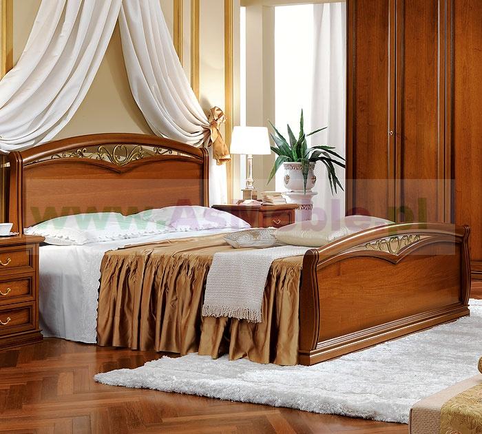 łóżko Drewniane Nostalgia Orzech 140x200 Z Podnóżkiem