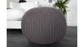 pufa Knited Ball - w kolorze grey fi 50 cm