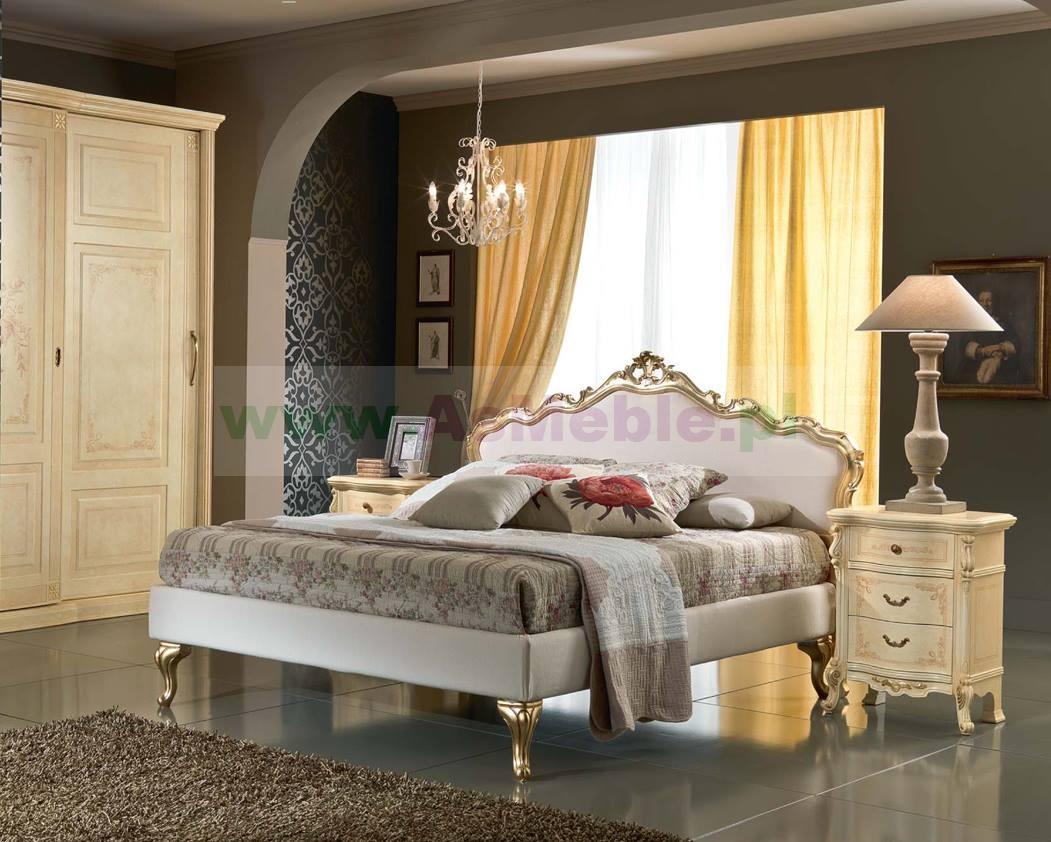 Argo Stylowe łóżko Włoskie 180x200 Tapicerowane Skórą Meble