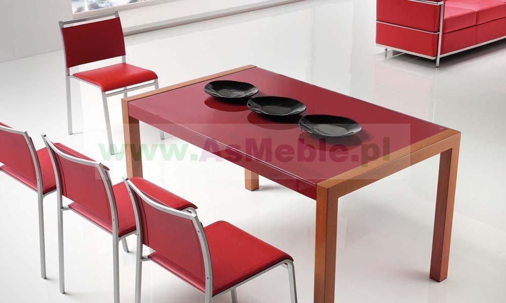 Titano Stół Rozkładany Ze Szklanym Blatem Meble Włoskie Sypialnie