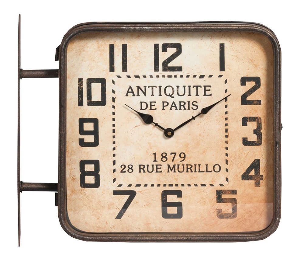 Vintage Zegar De Paris Dwustronny Meble Włoskie Sypialnie