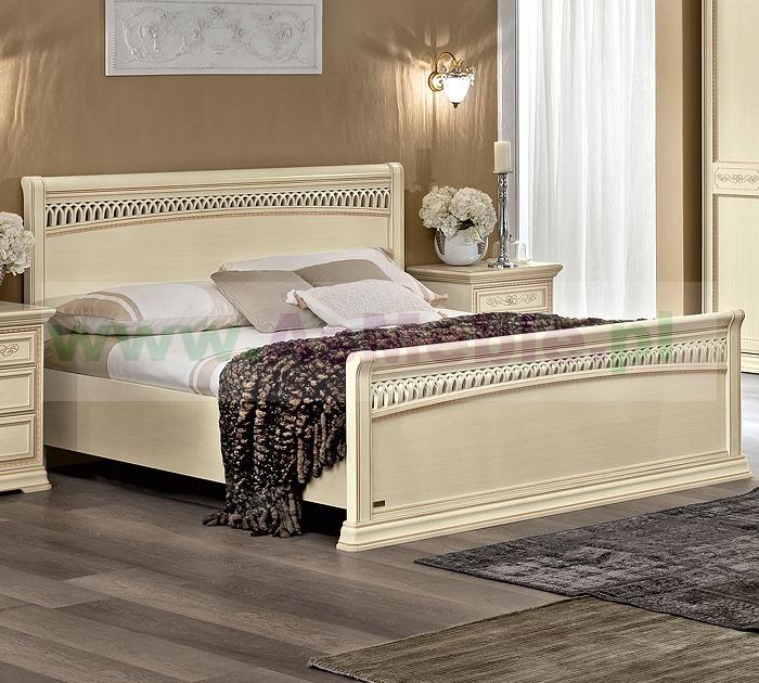 Włoskie łóżko 180x200 Toriani Tiziano Avorio Meble Do