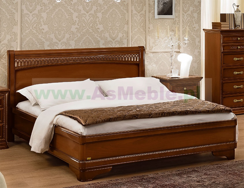 Orzechowe łóżko 180x200 Toriani Tiziano Orzech Z