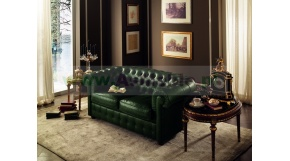 CHESTERFIELD  -sofa 2 os. kol. zielony