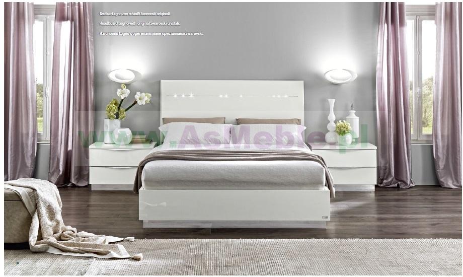 Groovy łóżko 140x200 ONDA meble włoskia Art Deco, w kolorze białym Meble VU38